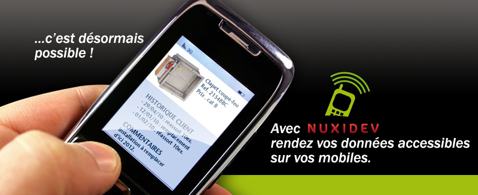 Nuxidev application mobile métier